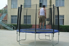 12ft inside bungee trampoline with safety enclosure