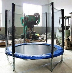 12ft inside bungee trampoline with basket ball hoop