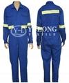 艷藍色阻燃連體服