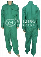green color flame retardant coverall