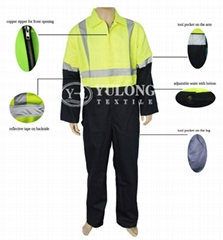 fluorescent yellow & flame retardant & water proof coverall