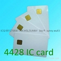 PVC blank sle4428 chip contact IC card