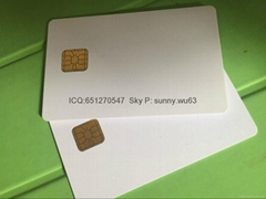 Jcop 2A040 40KB Credit Chip card Java chip blank white card