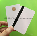 PVC 1 dip chip card blank white card for