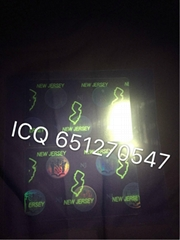New Jersey ID overlay NJ ID hologram sticker
