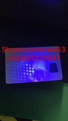 New York uv plastic card ID polycarbonate UV blank card  for NY