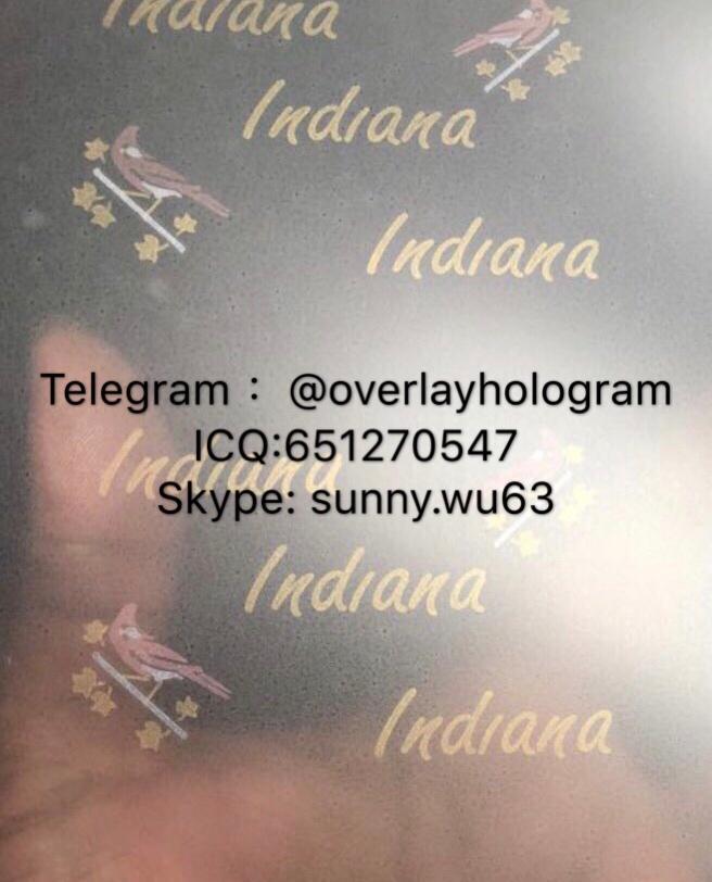 Indiana ID laminate sheet overlay IN overlay hologram 2