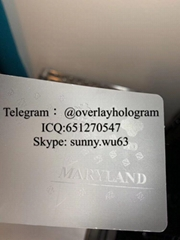 New Maryland ID laminate overlay