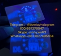 New Indiana ID card UV blank IN window card