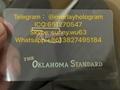 Oklahoma DL hologram overlay OKC ID sticker hologram