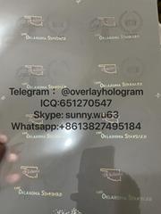 Oklahoma state ID laminate sheet OKC DL hologram