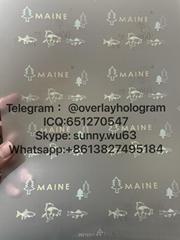 Maine ID laminate sheet overlay ME driver ID hologram
