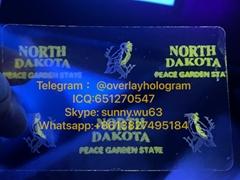 new ND state ID hologram North Dakota state overlay