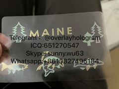 new ME state ID hologram Maine state overlay