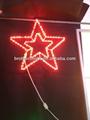 hot sale 2014 Commercial decorative led star motif light christmas led rope ligh