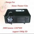 3000 lumens 1280*800 resolution led full