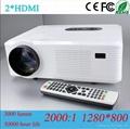 Mini Led Projector With hdmi usb vga tv Media Tuner For Home Theater/ktv/Restaur 2