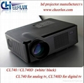 2400 Lumen Led Projector For Entertainment With hdmi usb vga tv Medi Tuner Used  1