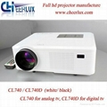 2400 Lumen Led Projector For Entertainment With hdmi usb vga tv Medi Tuner Used  2