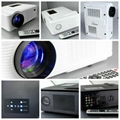2400 Lumen Led Projector For Entertainment With hdmi usb vga tv Medi Tuner Used  3