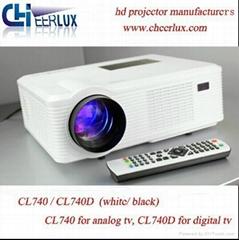 dvb-t CL740D Projector With hdmi usb vga tv Media Tuner Connect Digital TV
