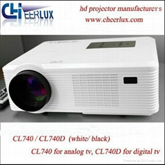 Lcd Projector Support 1080p 3D For Movie Player With hdmi usb vga tv Media Tuner