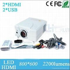 Lower Price Inter Speaker 2200 Lumens 50000 Hour Long Life Native 720p Led Proje