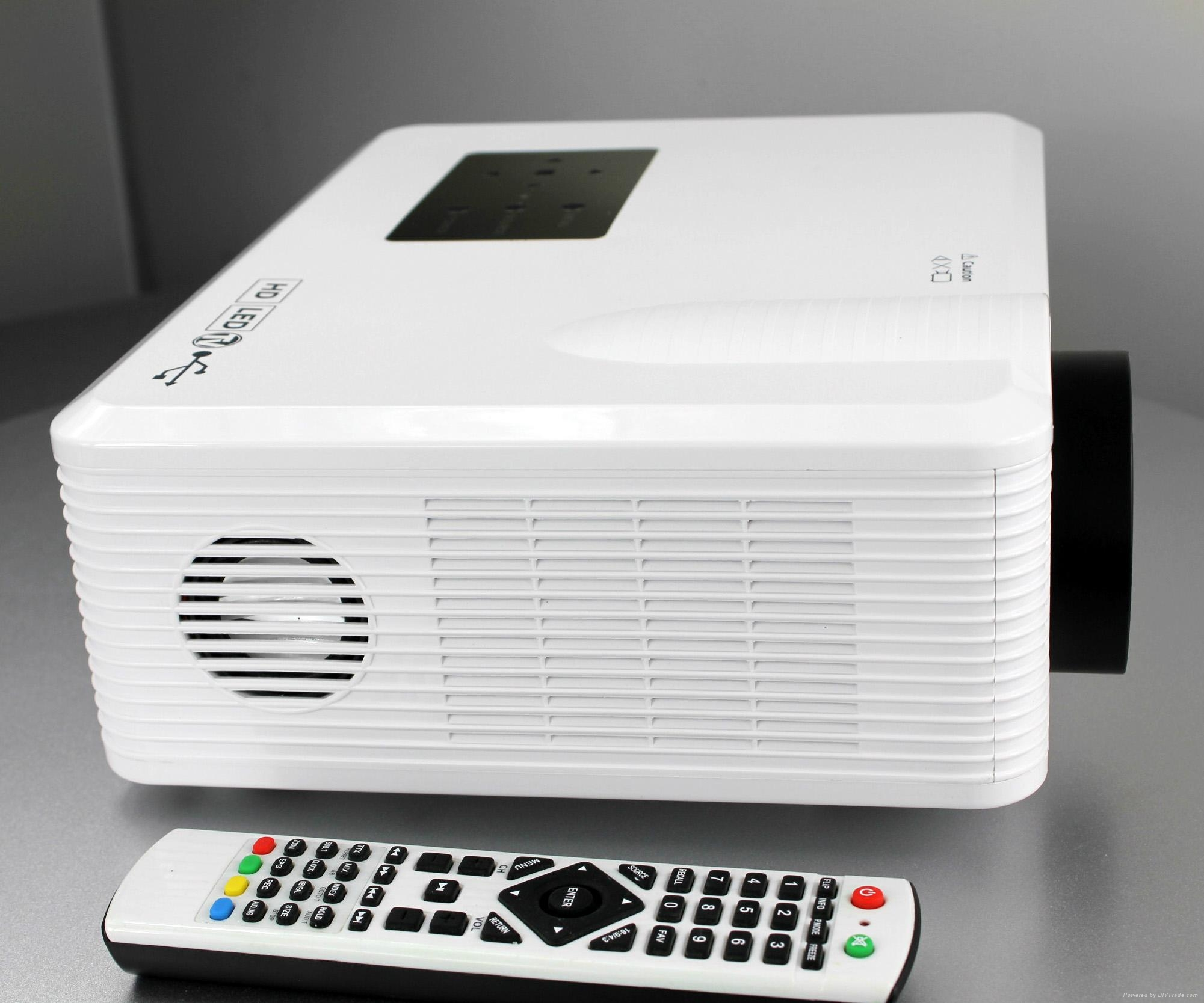 Tv Tuner Projector High Definition Home Theater Wxga Full: Cheerlux Led Projector With Digital TV Tuner Connect DVD