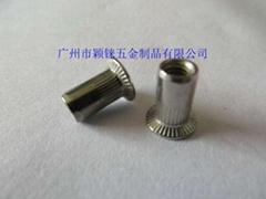 广东GB17880.2不锈钢大沉头竖纹铆螺母