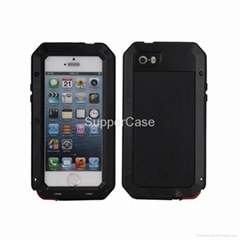 Hybrid Metal Silicone Moblie Phone Case For iPhone 5 5S