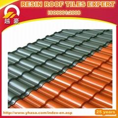 Plastic spanish fiberglass roof tile
