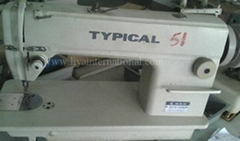 used second hand TYPICAL 6150M lockstitch industrial sewing machine
