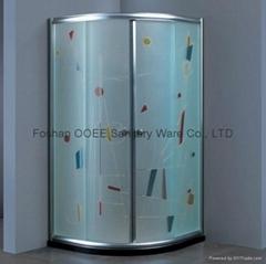 Simple sanitary ware shower cabin enclosure