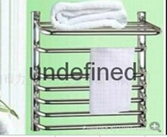 The bathroom stainless steel electric heating towel rack shelf that defend bath