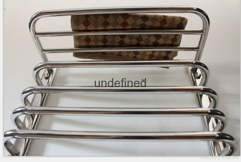 The bathroom stainless steel electric heating towel rack shelf that defend bath 4