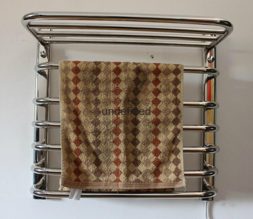 The bathroom stainless steel electric heating towel rack shelf that defend bath 5