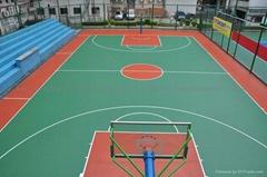 湖南株洲长沙住宅小区单位硅pu篮球场