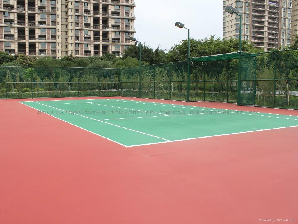 湖南株洲长沙住宅小区单位硅pu篮球场 2