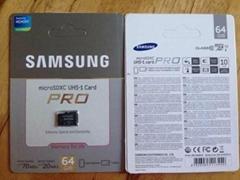 Samsung 64GB Class 10 UHS-1 Grade 1 70MB/s MicroSDXC Pro Memory Card