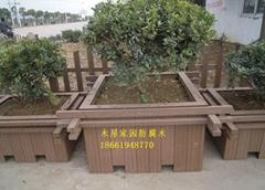 青岛防腐木花箱花槽