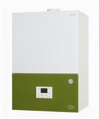 Wall mounted condensing gas boiler