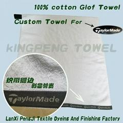 100%棉高尔夫毛巾