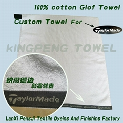 100% pure cotton golf  towel gift towel