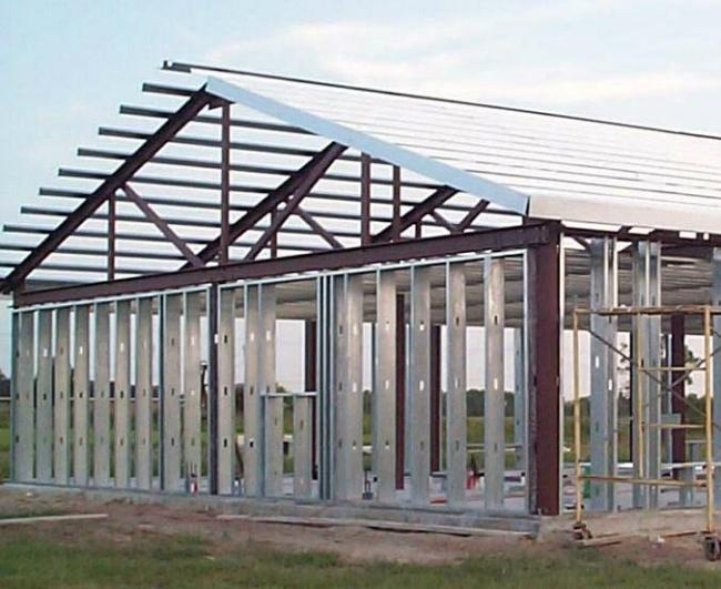 Steel Frame Building Kits : Steel residential homes frame metal building