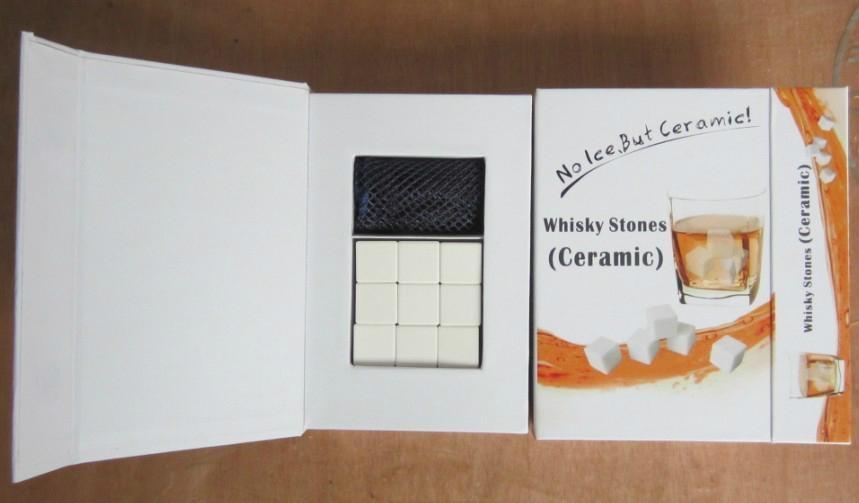 9PCS Ceramic Whisky Stone in Gift Box 3