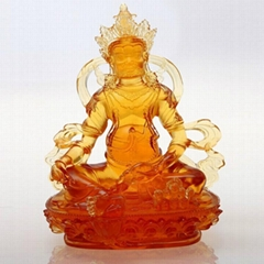 Tantric - Green Tara glass crafts Buddha statues of Buddha ornaments gift statio