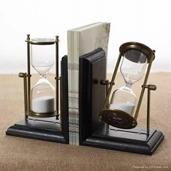 Home Decoration Sand Timer Bookends