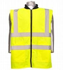 Fluo Traffic Safety Hi Vis Reflective Safety Waistcoats