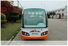 14 seats electric travelling bus shuttle bus  electric sightseeing car
