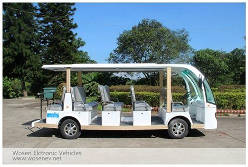 14 seats electric travelling bus shuttle bus  electric sightseeing car 4
